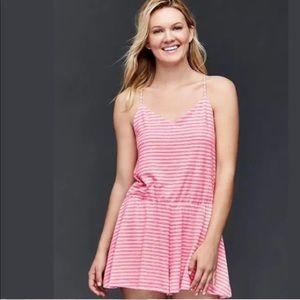 Gap Pink Striped Romper